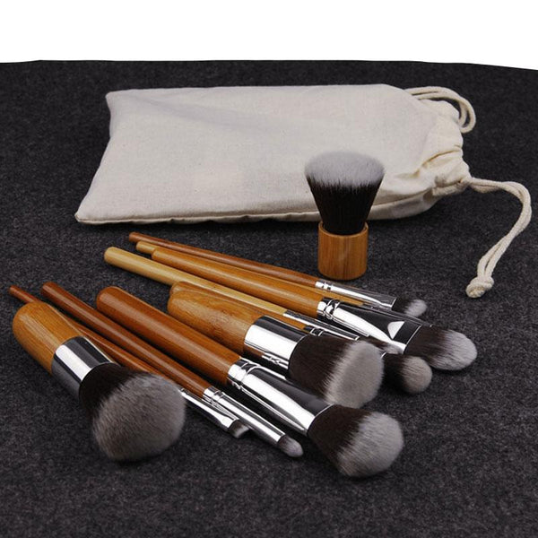 Set de 11 pinceaux pour maquillage - HOME TO YOU