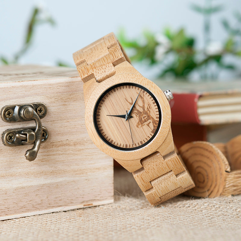 Montre FEMME en bois - Gaïa - HOME TO YOU