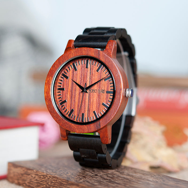 Montre HOMME en bois - Mathias - HOME TO YOU