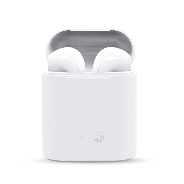 M&J Mini Wireless Earbud Headset With Charging Box & Mic - BlueTechTalk