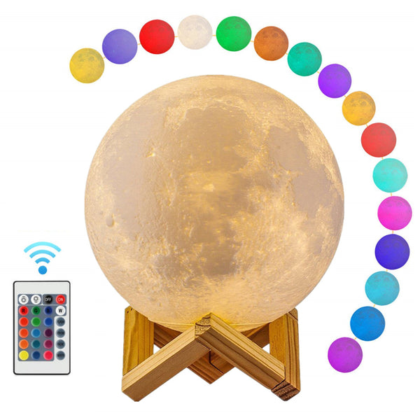 3D Moon Lamp With Stand - BlueTechTalk