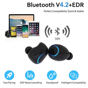 True Wireless Earbuds with Built-in HD Mic & Charging Case - BlueTechTalk