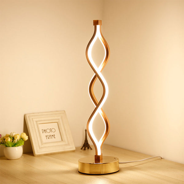 Spiral LED Table Lamp - BlueTechTalk