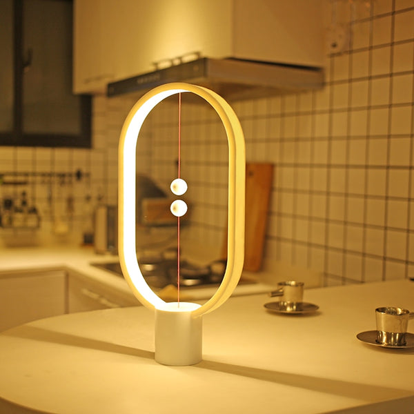 LED Hoop Balanced Lamp - BlueTechTalk