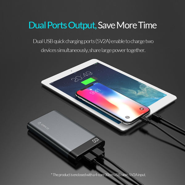 10,000mah Power Bank with Dual USB Output - BlueTechTalk