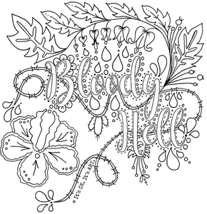 FREE Colouring Sheets - ADULT themed colouring pages (Digital Download)
