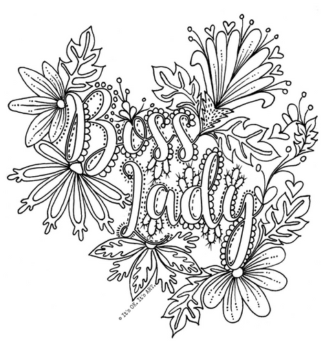 FREE Colouring Pages- ADULT MOM themed colouring pages (Digital Download)