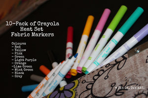 (Wholesale) Crayola Fabric Markers