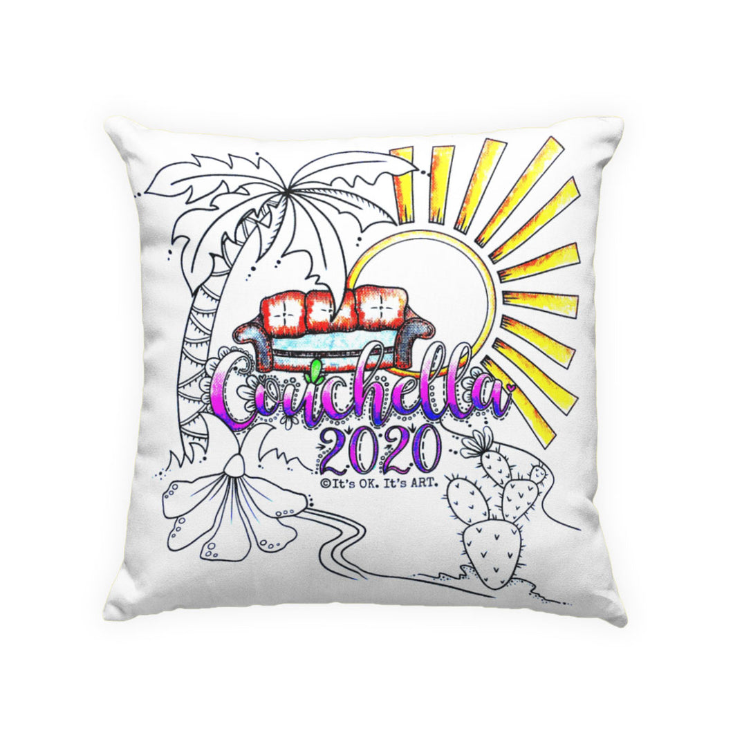 Couchella 2020 Pillow Cover, Creative Kit, Zip Pouch (Clearance)