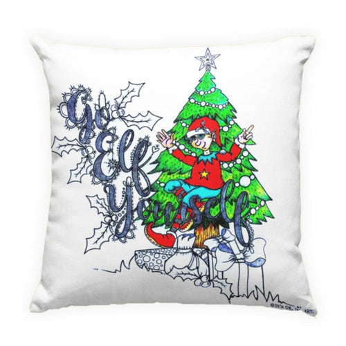 Go Elf Yourself Pillow Cover