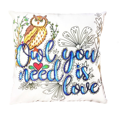 Owl You Need Is Love Pillow Cover