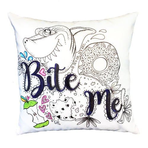 Bite Me! Pillow Cover