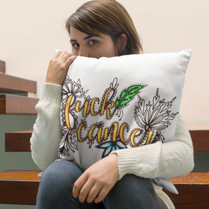 (Wholesale) Fuck Cancer Pillow Cover (ONLY)