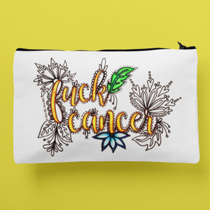 (Wholesale) Fuck Cancer Zip Pouch