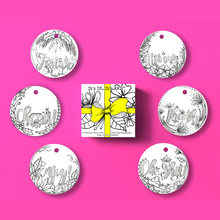 Load image into Gallery viewer, (Wholesale) Colour & Send: Gift Tag Ornaments