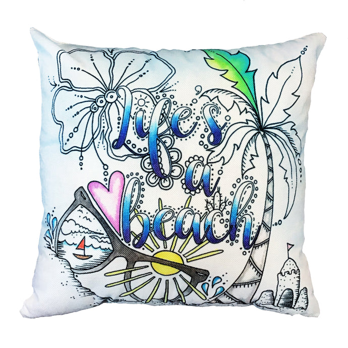 Life's A Beach Pillow Cover