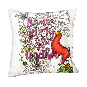 (Wholesale) Llama Get My Shit Together Pillow Cover (ONLY)