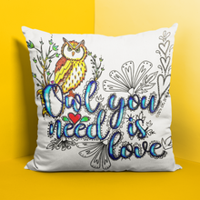 Load image into Gallery viewer, (Wholesale) Owl You Need Is Love Pillow Cover (ONLY)