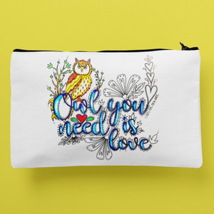 (Wholesale) Owl You Need Is Love Zip Pouch