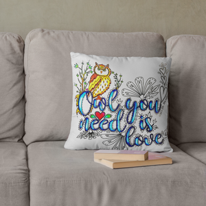 (Wholesale) Owl You Need Is Love Pillow Cover (ONLY)