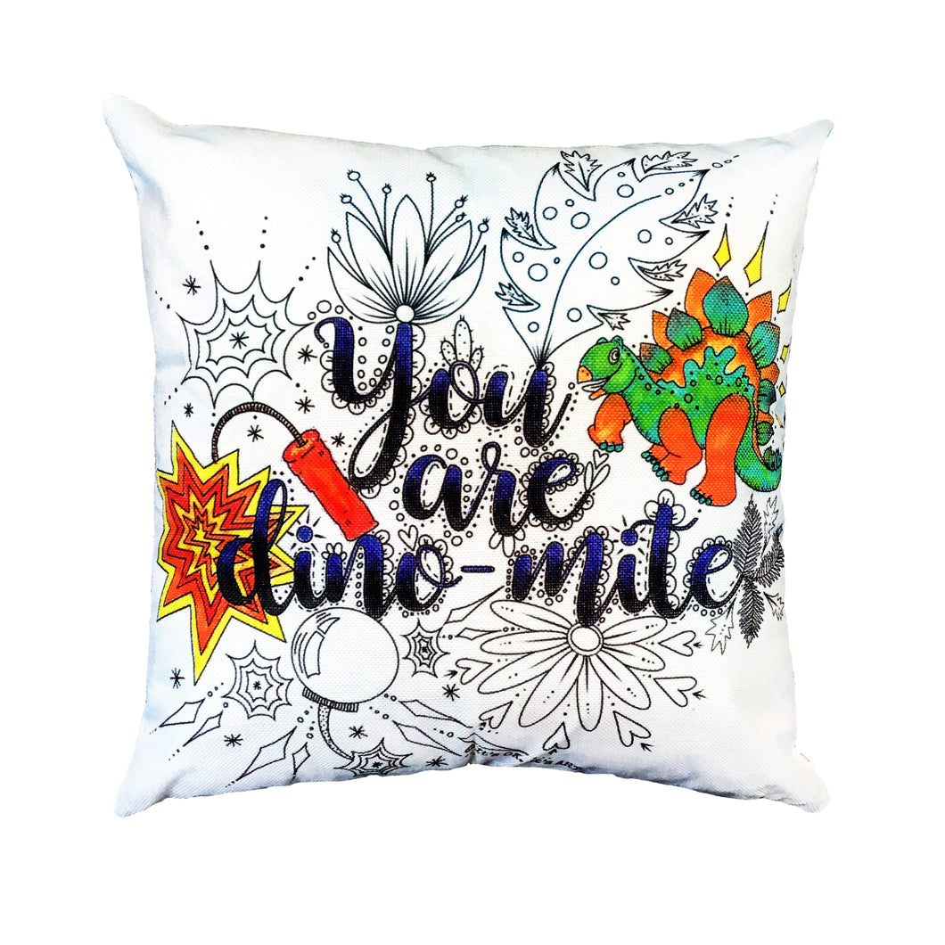 (Wholesale) You Are Dino-mite Pillow Cover (ONLY)