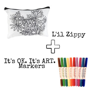 L'il Zippy Kit: Pouch + Markers