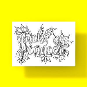 Postcard- Fuck Cancer