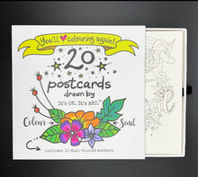 Load image into Gallery viewer, (Wholesale) Colour & Send: Postcard Stationery Box Set