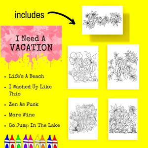 Postcard Pack-I Need A Vacation