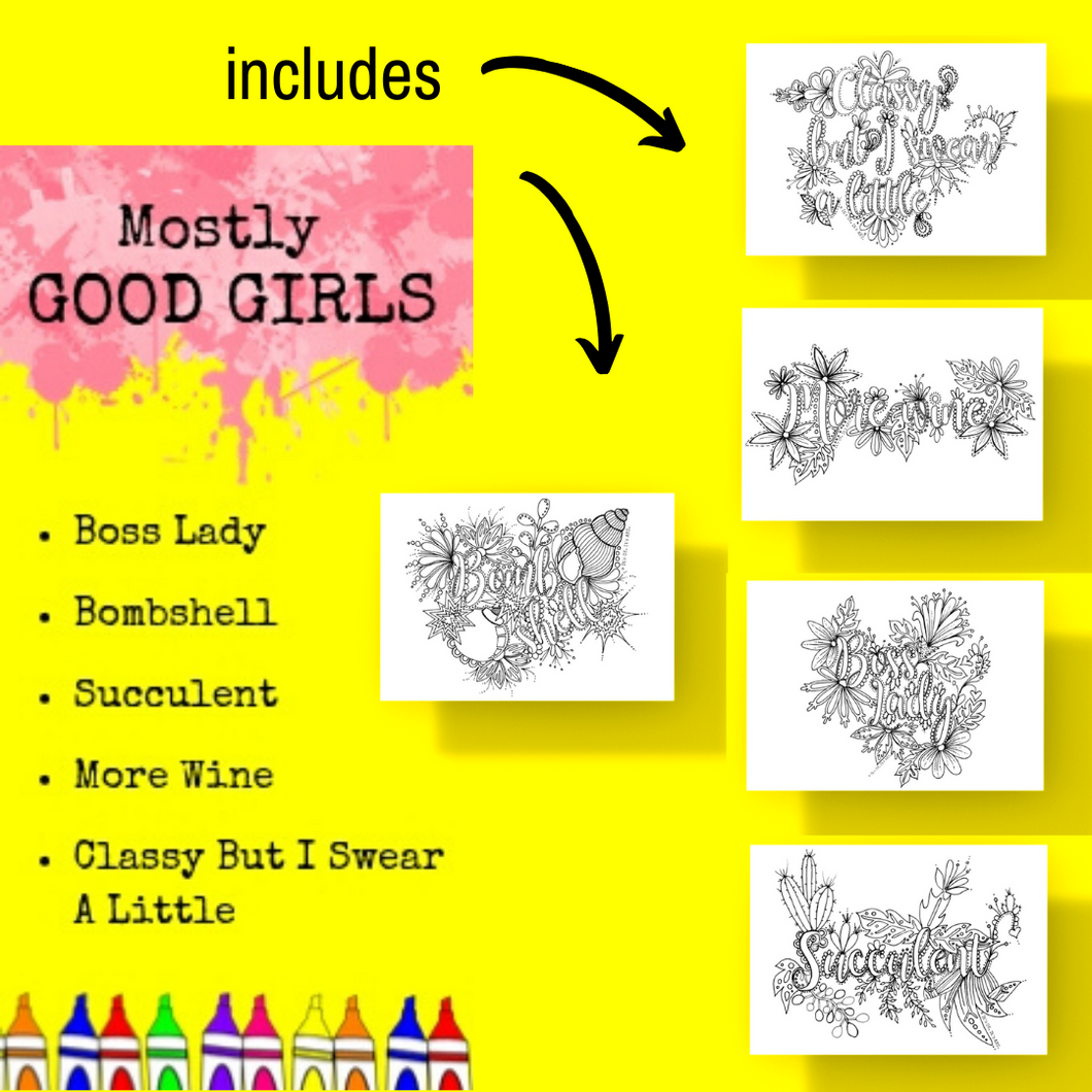 Postcard Pack-Mostly Good Girls