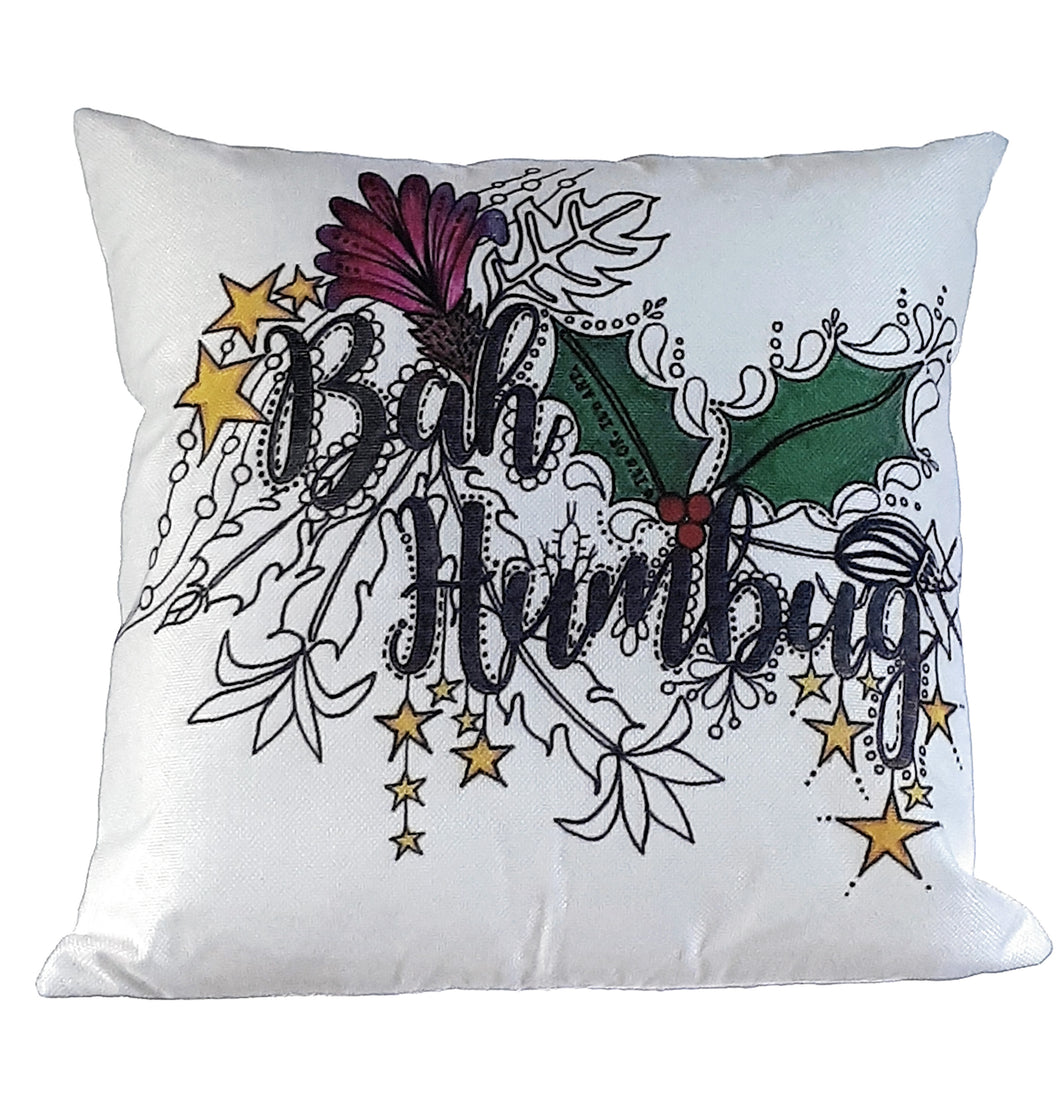 (Wholesale) Bah Humbug Pillow Cover (ONLY)