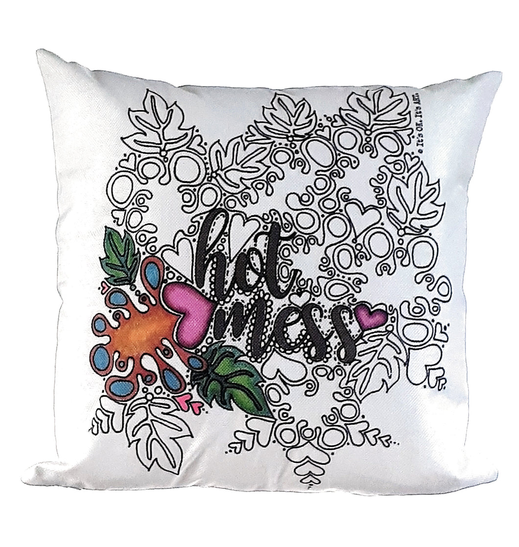 Hot Mess Pillow Cover (Clearance)