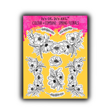 Load image into Gallery viewer, Colour + Combine: Spring Florals Sticker Sheet