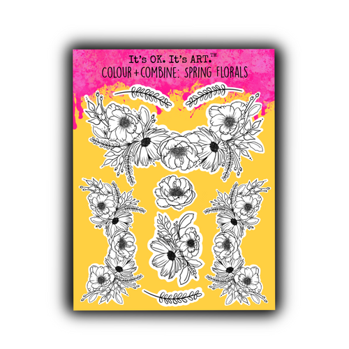 Colour + Combine: Spring Florals Sticker Sheet