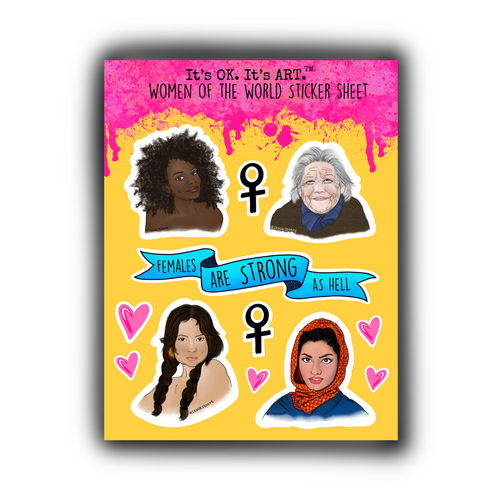 Women of the World Sticker Sheet
