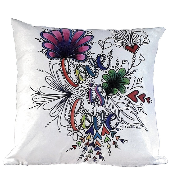 Love Is Love Pillow Cover