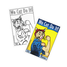 Load image into Gallery viewer, (Wholesale) Postcard- We Cat Do It! Coloured and Uncoloured Set