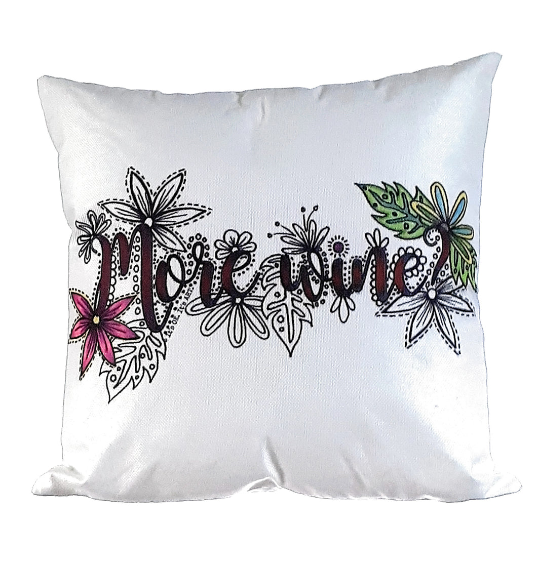 (Wholesale) More Wine Pillow Cover (ONLY)