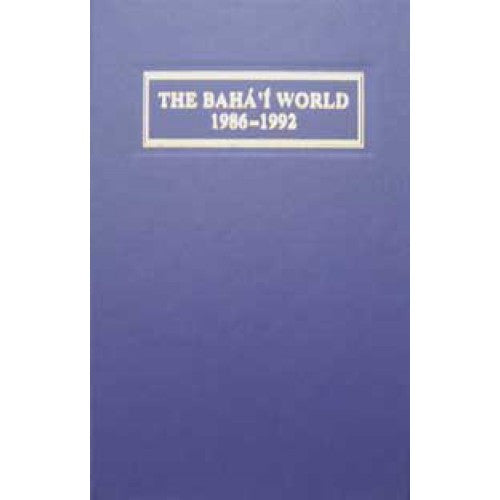 The Baha'i World 1986-1992 Vol XX
