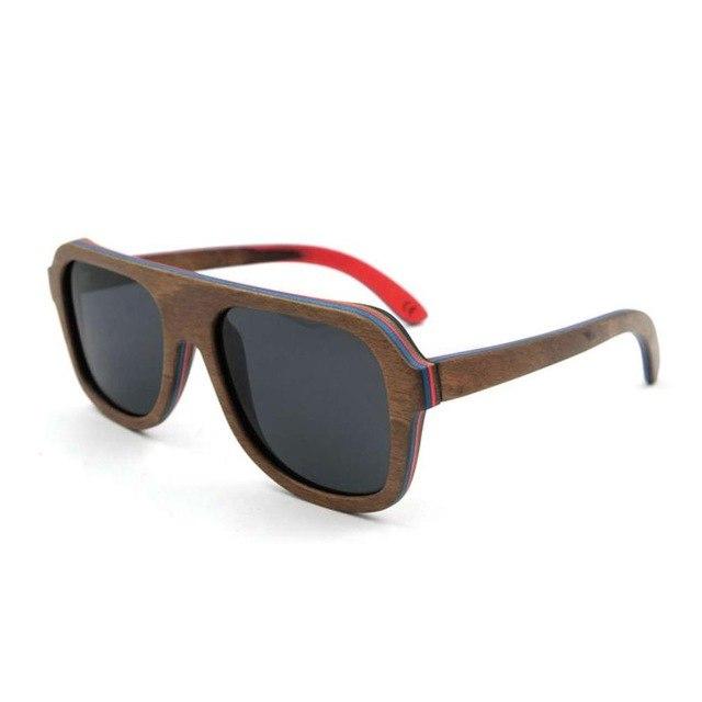 Pilot Environmental Polarized New Sunglasses In Solid Wood UV400