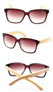 Bamboo Wood Sunglasses Brown / Black / Leopard