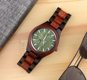 Handcrafted Men's Wood Quartz Watch