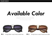 Load image into Gallery viewer, Vintage Brand Designer Bamboo Sunglasses