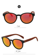 Load image into Gallery viewer, Polarized Designer Bamboo Sunglasses For Women