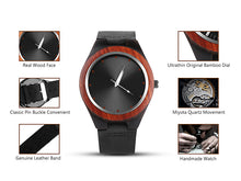 Load image into Gallery viewer, Handcrafted Wood Quartz Fashion Watch