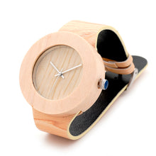 Load image into Gallery viewer, Pine Handmade Wooden Watch For Women/Men With Soft Leather Grain Strap