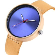 Load image into Gallery viewer, Colorful Handcrafted Women's Quartz Maple Wood Watch With Leather Strap