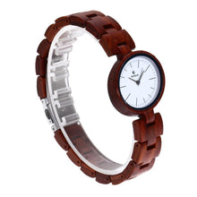 Load image into Gallery viewer, Unique Handcrafted Wood Ladies Watch