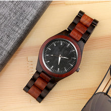 Load image into Gallery viewer, Handcrafted Men's Wood Quartz Watch