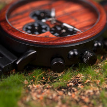 Load image into Gallery viewer, Luxury Stylish Wood Quartz Watch In Chronograph Military Style